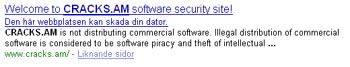 Google varnar - skadlig sida?
